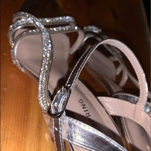 Sparkling wedding shoes !!  Size 8.5